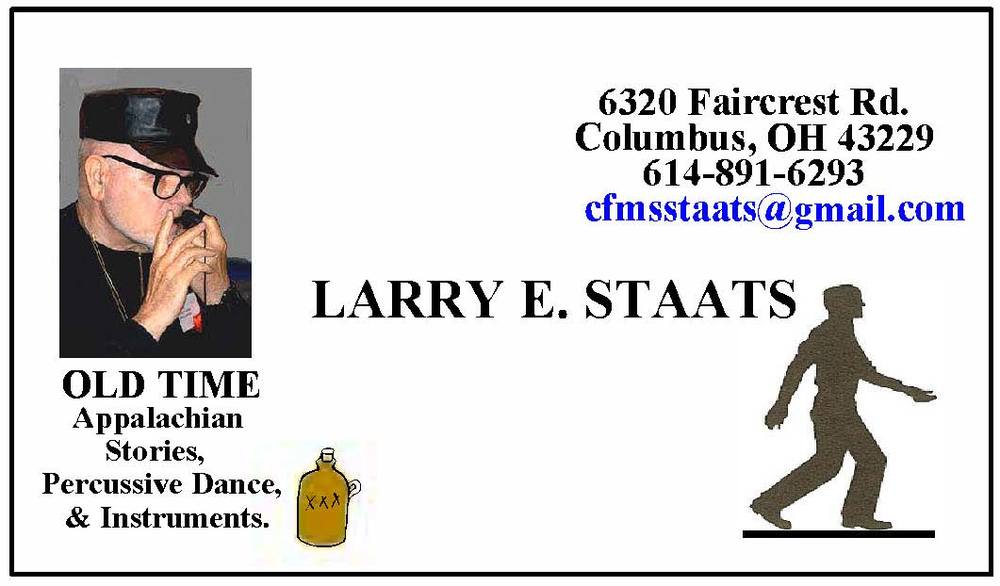 Larry Staats 6320 Faircrest Road Columbus, OH 43229 (614) 891 - 6293 cfmstaats@gmail.com
