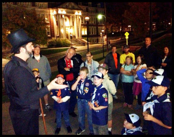 Jason Burns, WVU Ghost Tour 2012