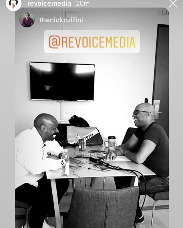 Today in L.A., @thenickruffini recording the 2nd episode of a new @revoicemedia series we're working on —  We Are Rhythm, a podcast from @lpmusicofficial. In the 📸 —  host Joey De Leon and percussionist Ron Powell.  Hosted by multi-talented percussionists @joeydeleonjr ^^ and @jhairbabysala, the show captures the essence of latin music culture through conversations with some of the world's most talented musicians. Episode 1 is up this week, featuring Peter Michael Escovedo, of the famous E family. 🙌  on iTunes, Google Play, or wherever you get your podcasts. 🥁🎤🎧 #revoicemedia #latinpercussion #producerchronicles