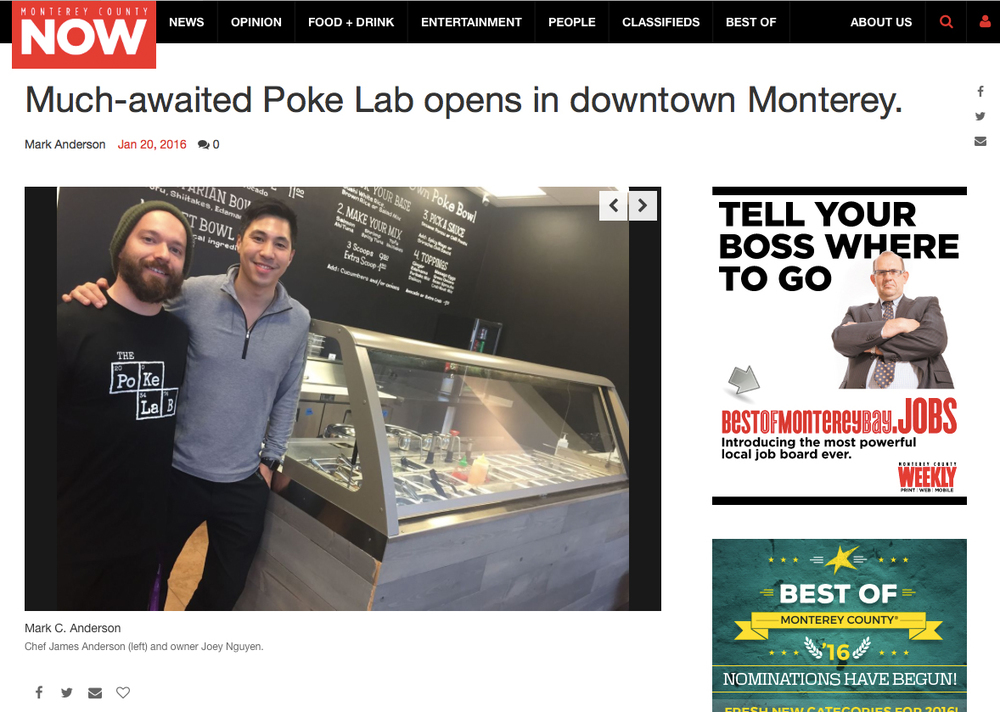 Monterey Weekly - Much-awaited Poke Lab opens in downtown