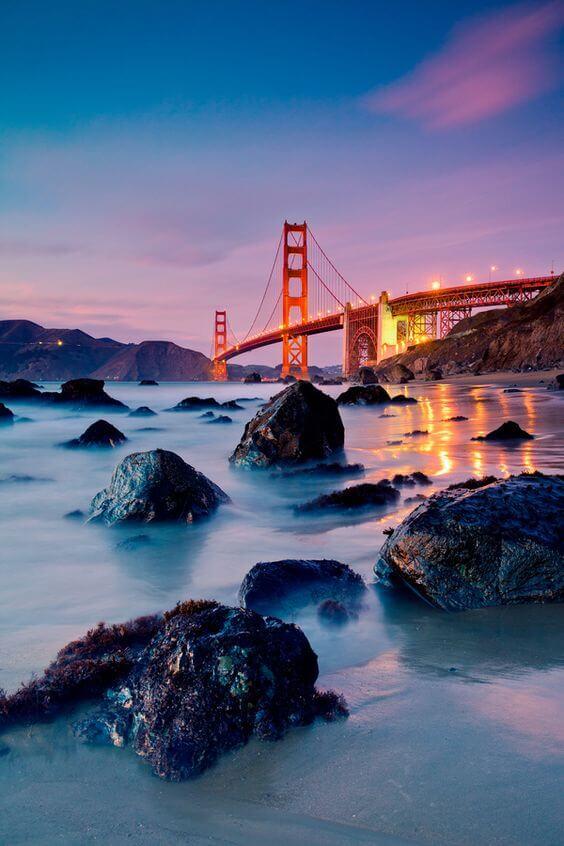 Marshall's beach and Golden Gate Bridge