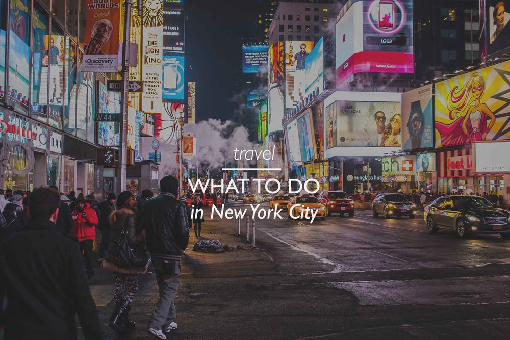 Copy of NYC Attraction and Things to Do