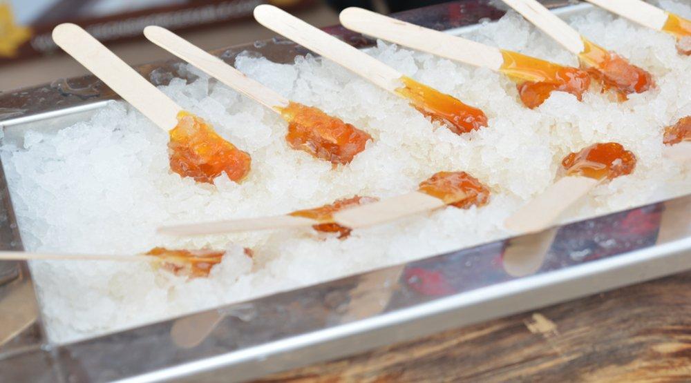 Frozen Maple Taffy