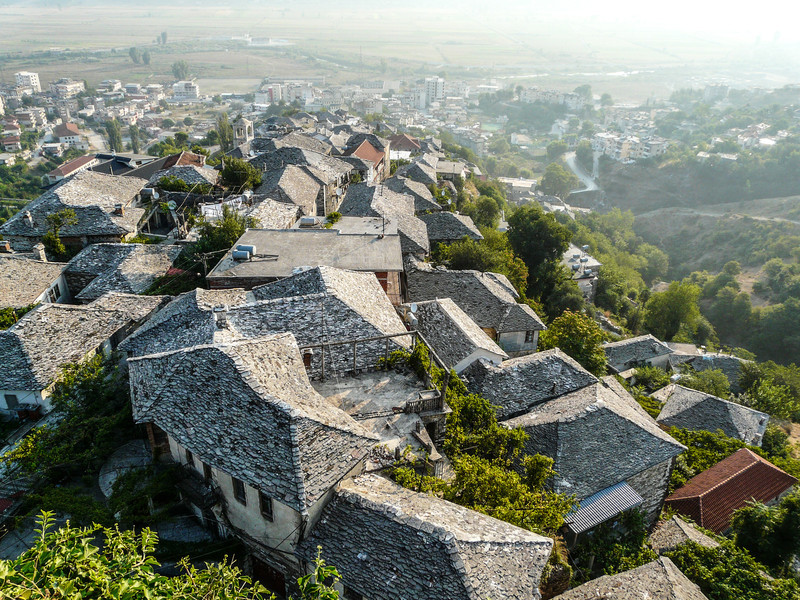 Morning Sun on Gjirokastra Rooftops-L.jpg