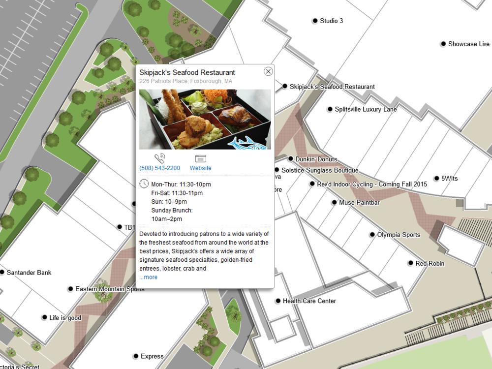 Patriot Place — Zonas Resort Maps