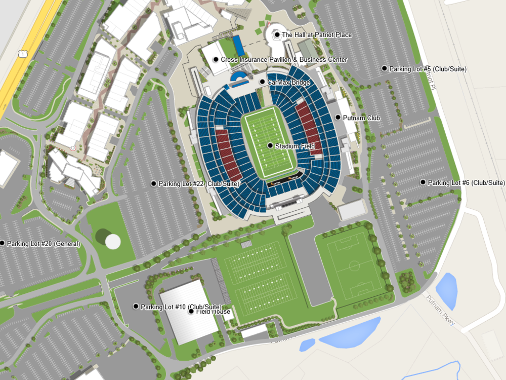 Entertainment & Sports Stadium — Zonas Resort Maps