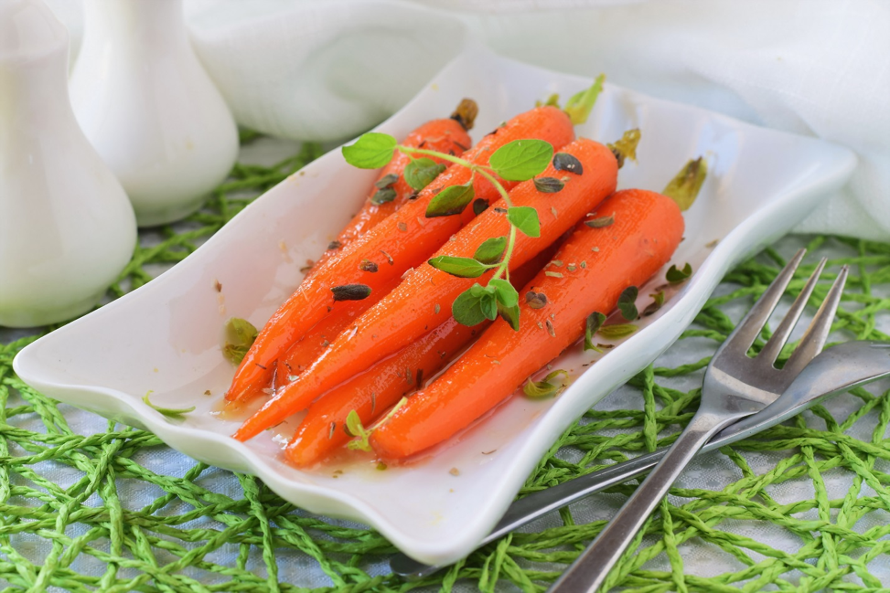 Honey-Glazed Carrots - A quick and simple veggie dish that eats and tastes like a dessert.