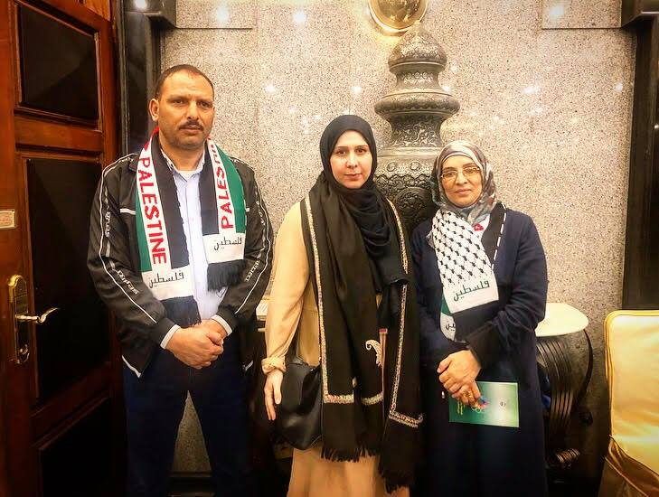 With the parents of Razzan Al Najjar, the Palestinian nurse shot dead whilst coming to the aid of injured protesters