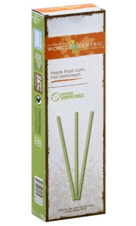 World Centric® compostable straws made from Ingeo™