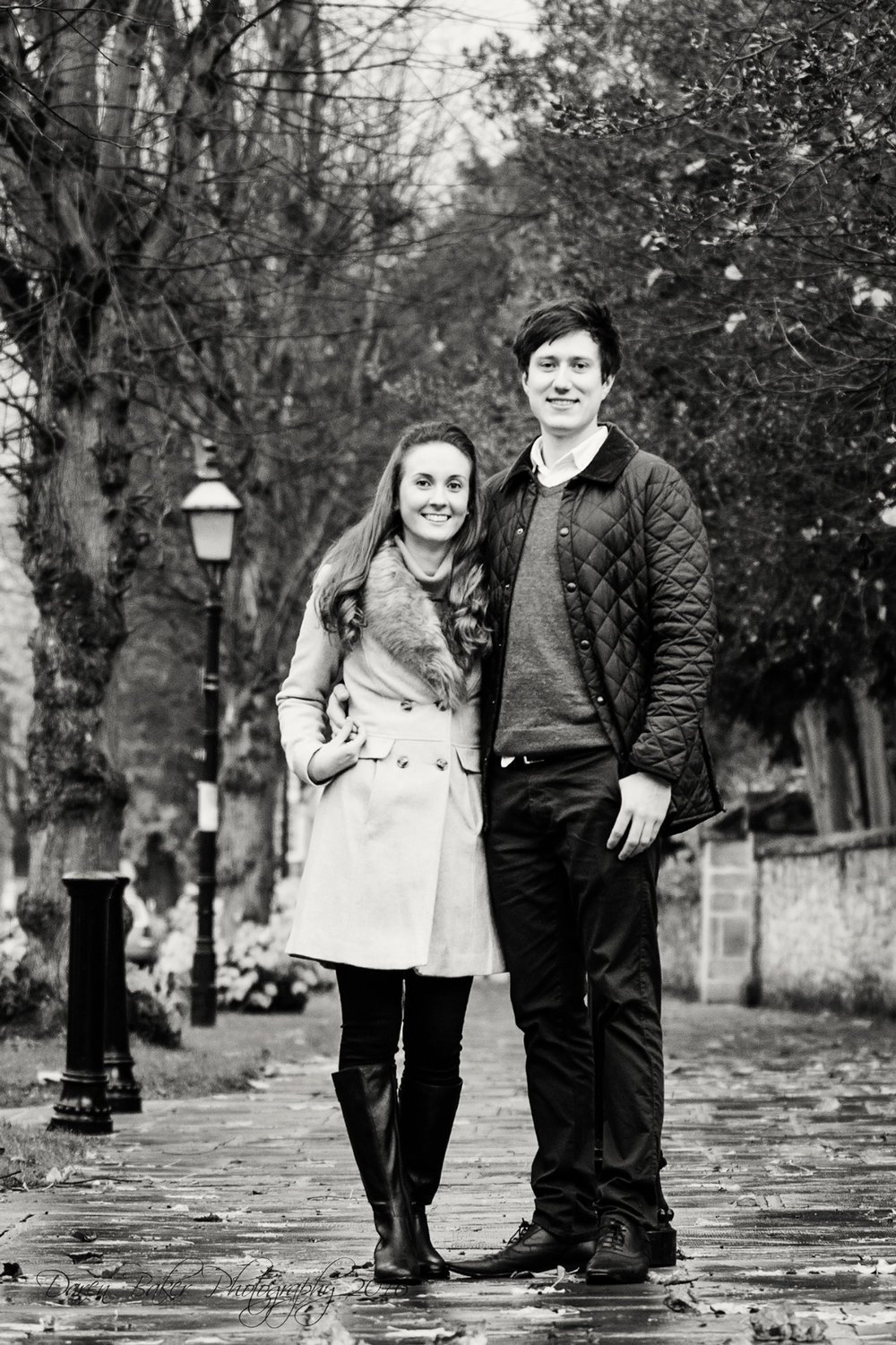 Black and white engagement shoot, Horsham Sussex