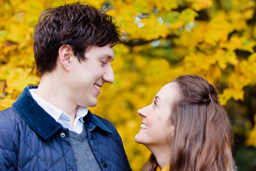 Look of love, engagement portrait, Sussex