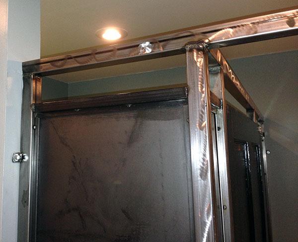 Custom Metal Bathroom Stalls Fossil Forge Design - Metal bathroom stalls