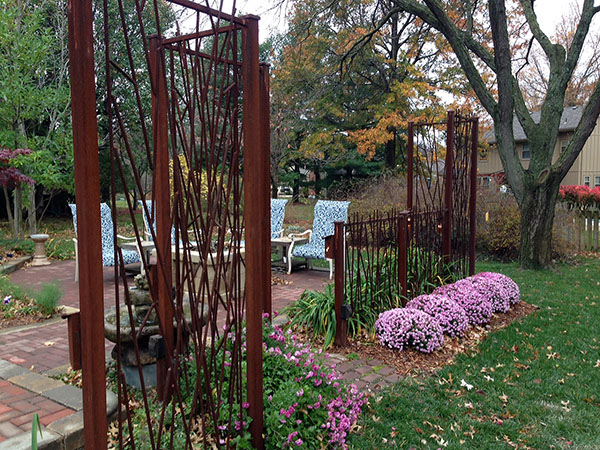 This Is A Combination Fence And Trellis For A Garden. I Used Rebar And  Traditional Steel To Create A Contrasting Design. The Tall Trellis  Structures Are ...