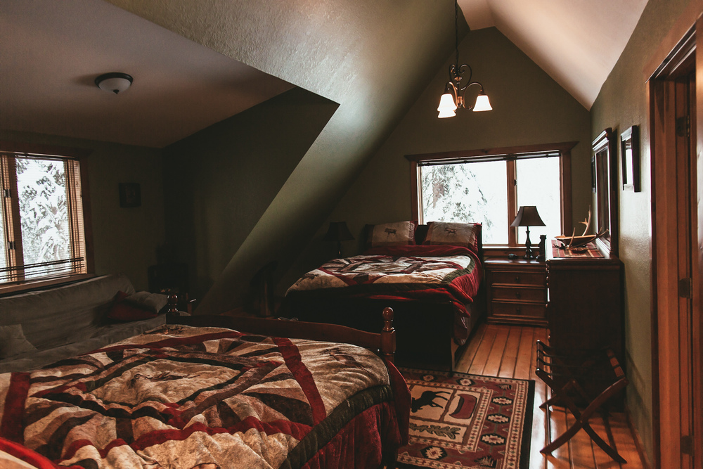 The coziest upstairs. I tried to take the pillows and comforters home with me, but I forgot my oversized luggage.