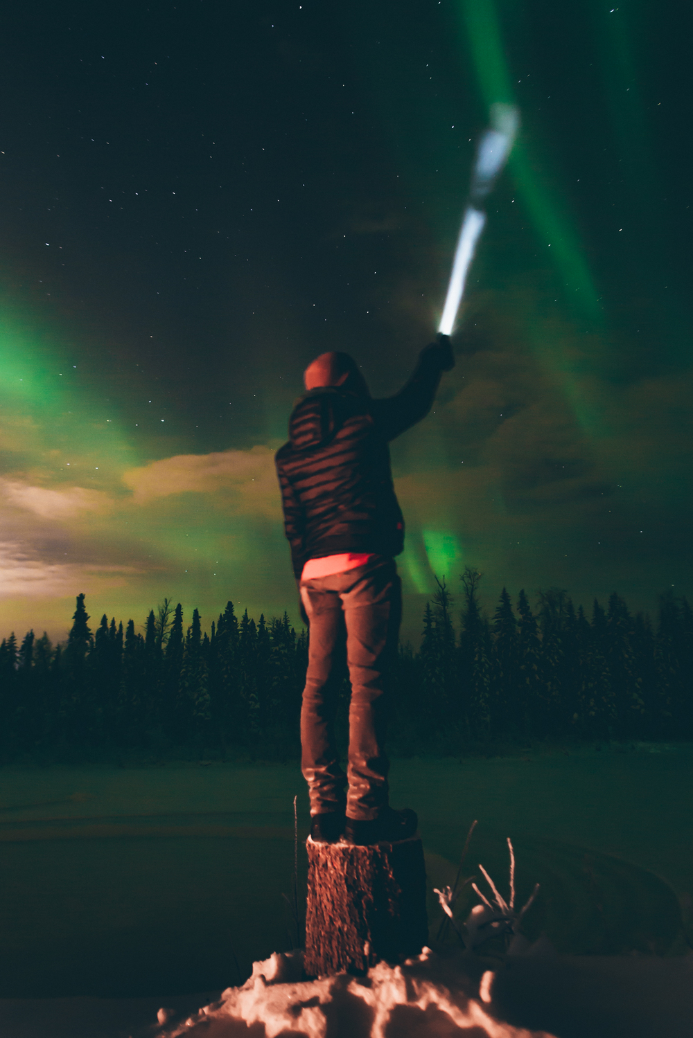 Searching for the Northern Lights with a little help.