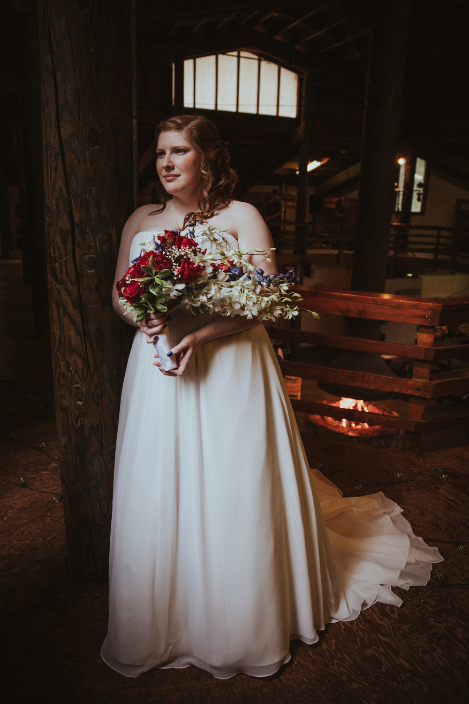 Silver Falls State Park Bridal Portrait