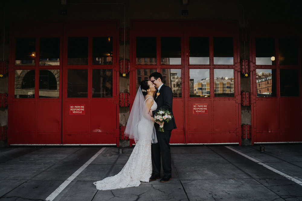 Seattle Fire Department Wedding Portraits Alfred Tang