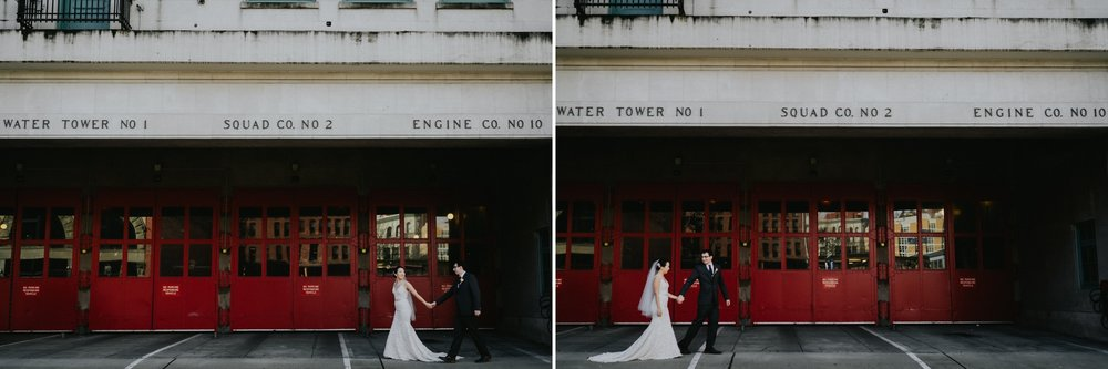 Seattle Wedding Photographer Fire Department Station