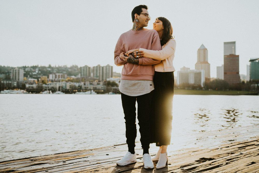 Portland waterfront Wedding Photographer