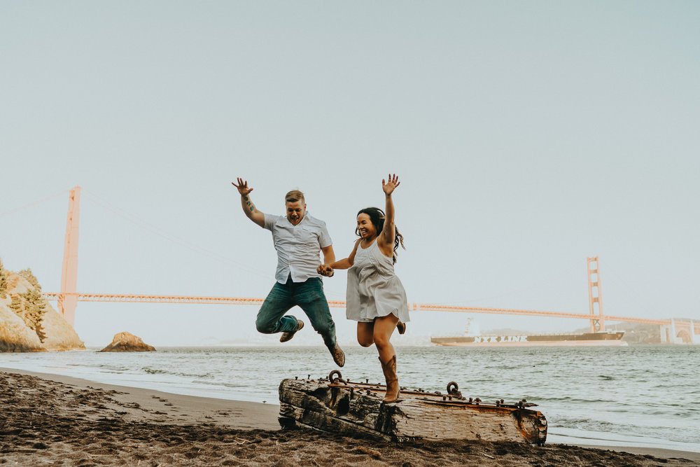 Jump Golden Gate Wedding Photographer