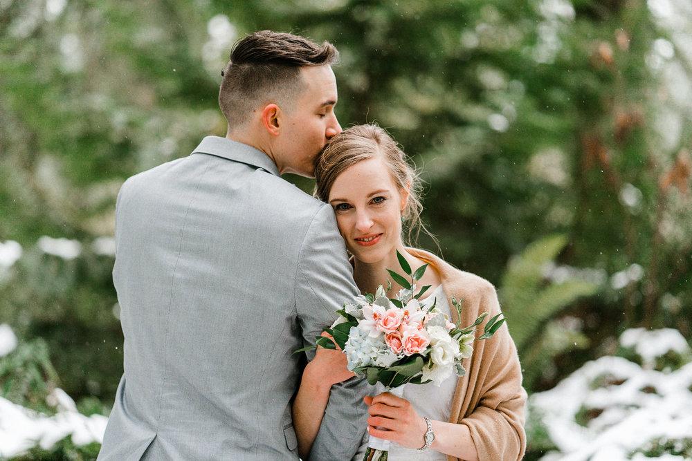 Smiling Bride Wedding Seattle Alfred Tang Wedding