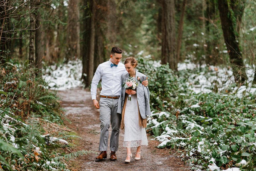 Winter Wedding Spring Washington Elopement Photographer