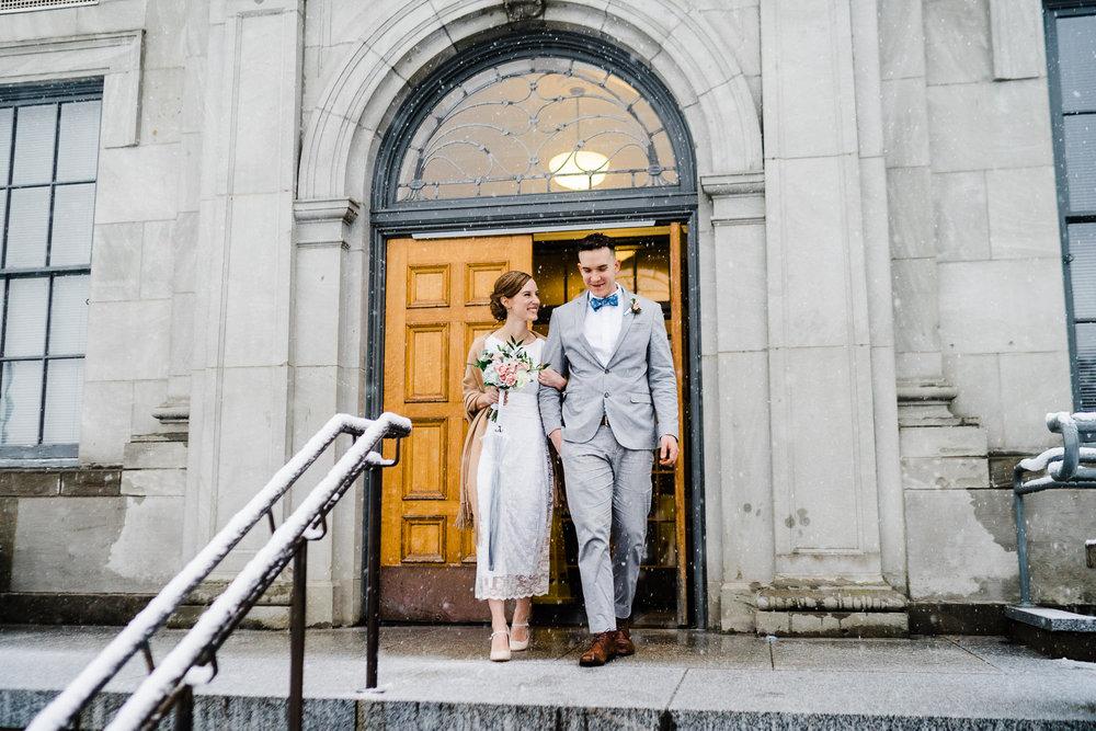 Snow Spring Mason Superior Courthouse wedding