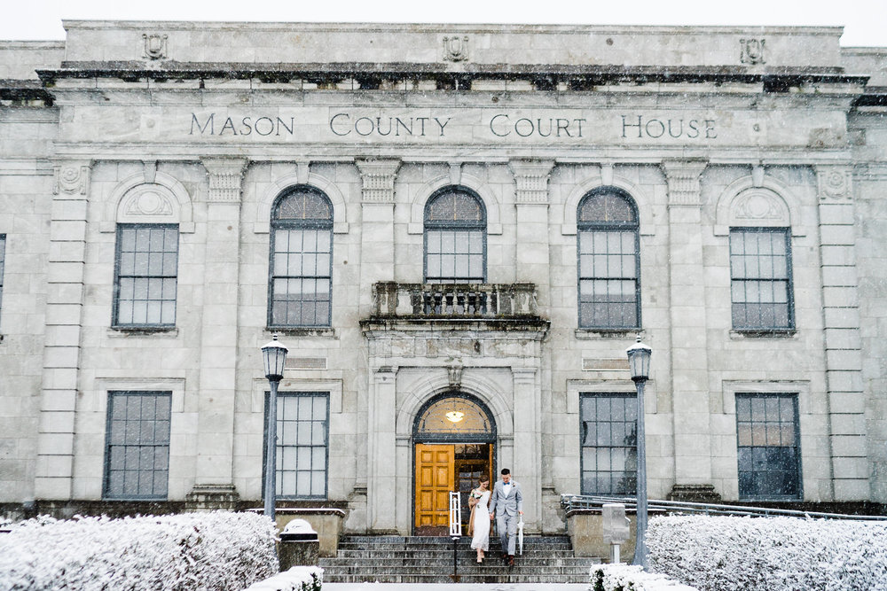 Snowy Mason Superior Courthouse wedding