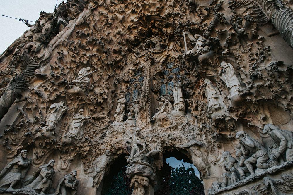 Sagrada Familia Nativity Scene Architecture Front