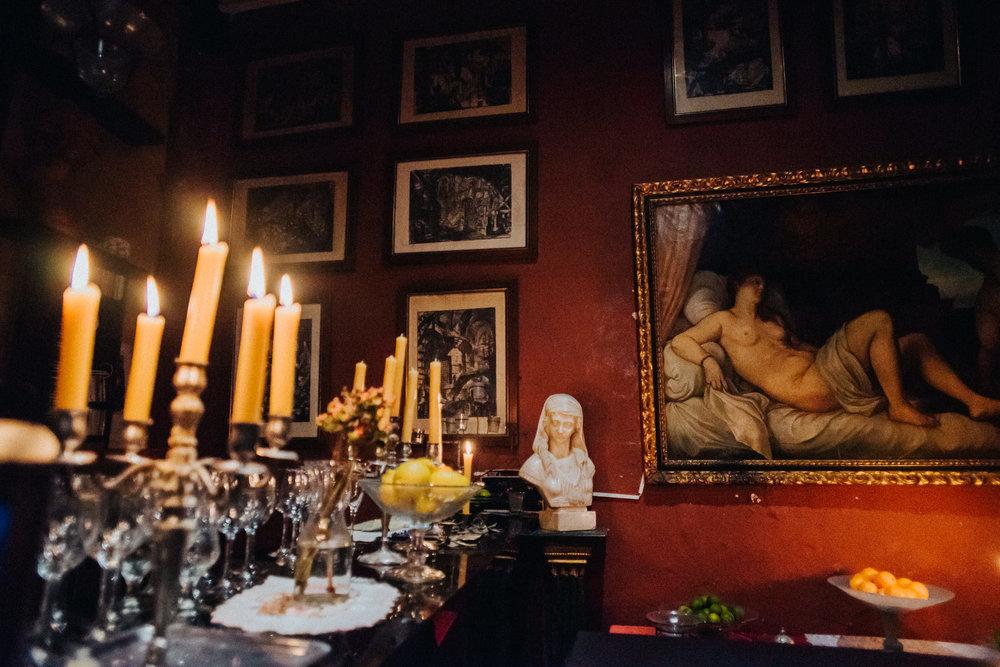 Palau Dalmases 17th century painting candles