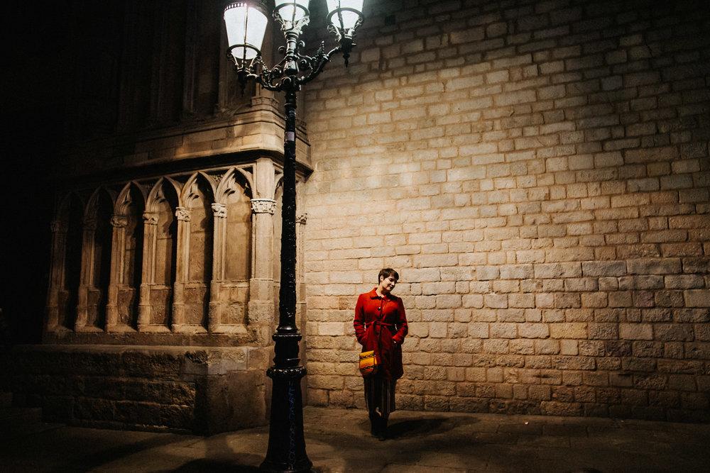 Church Cathedral Barcelona street light Katy Weaver