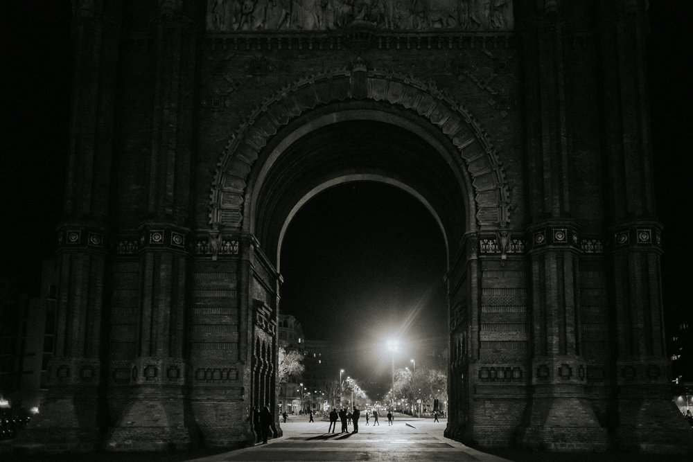 Arc de triumph Barcelona black n white bnw