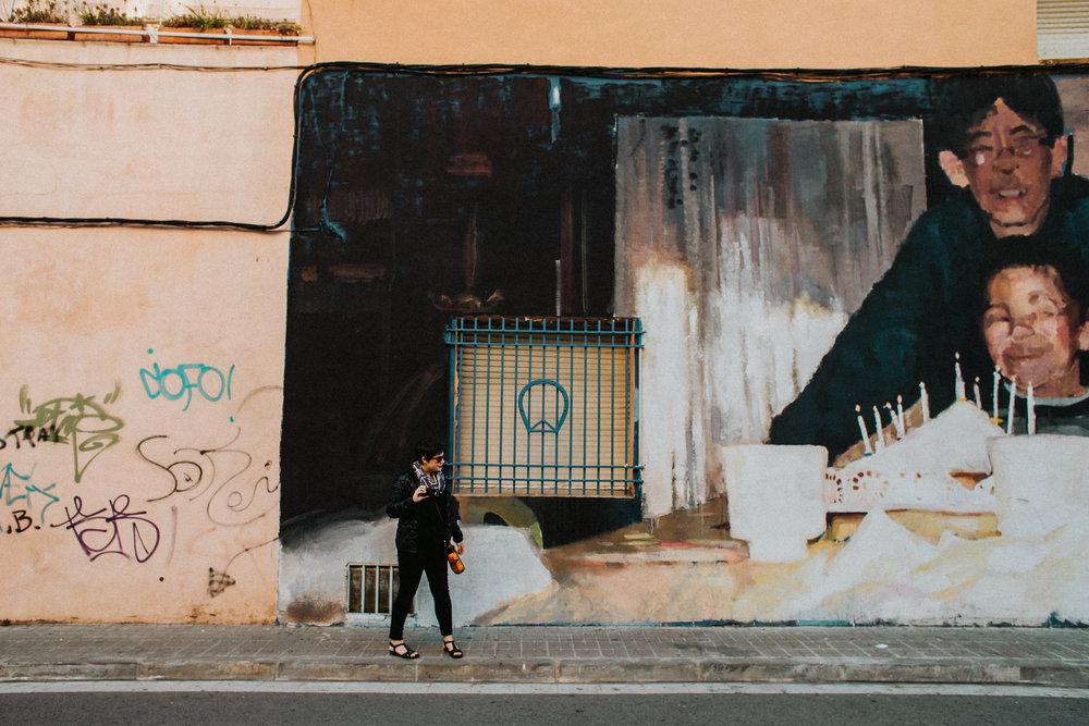 katy weaver street mural Barcelona