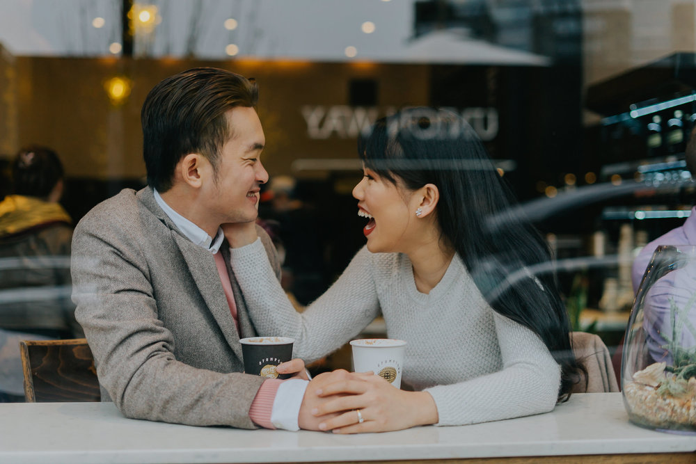 coffee shop engagement alfred tang