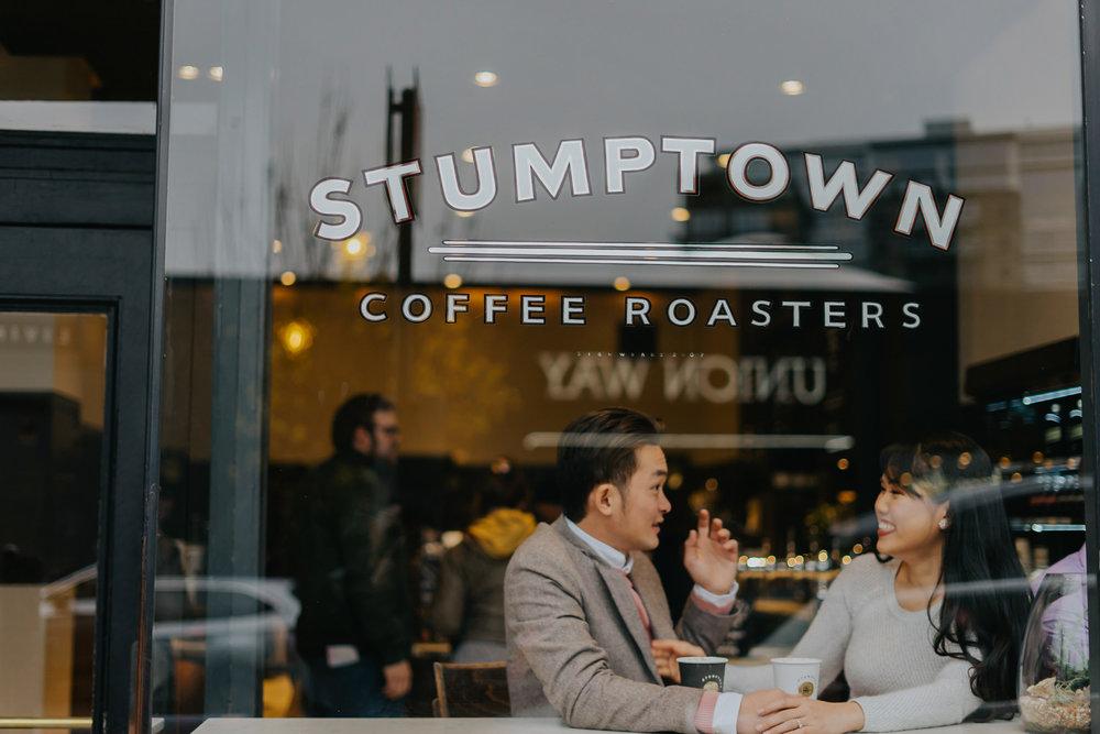 Stumptown Coffee Roaster engagement photographer