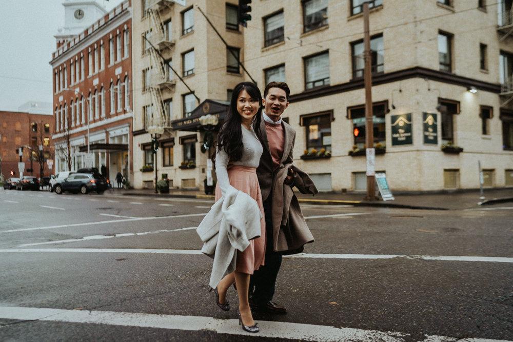 street fashion engagement photography