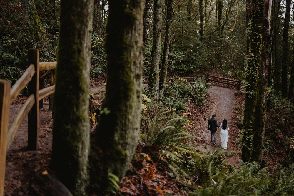Portland Forest Park best engagement photographer