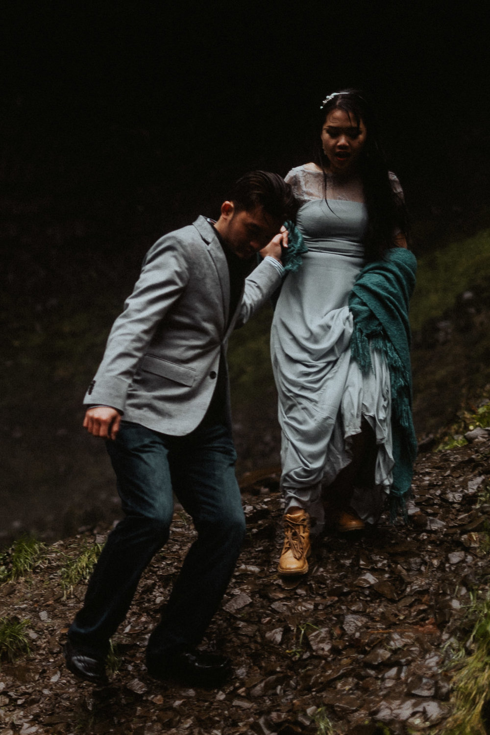 Columbia River Engagement Photography
