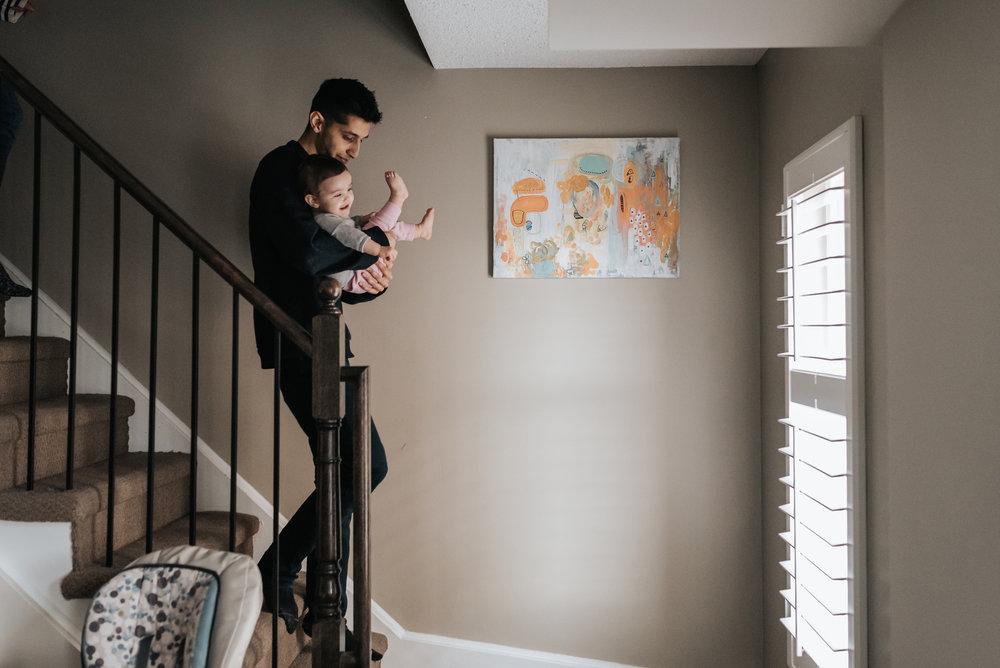 Family at home session photographer Hamilton, GTA, Niagara