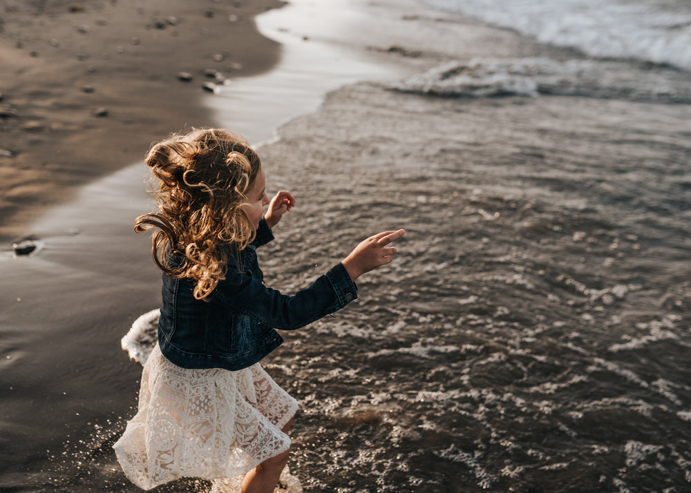 Girl on the beach, family photography, lifestyle photography