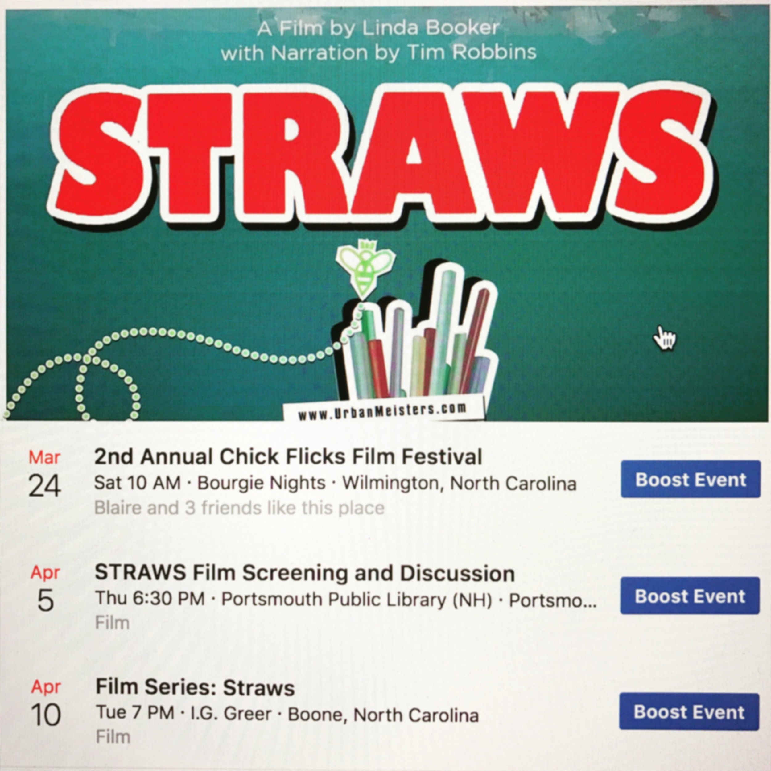 EVENTS — STRAWS - a film by linda booker