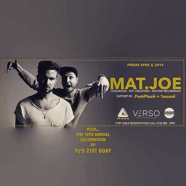 We are stoked to be back @verso_sf tomorrow night, celebrating @pheej_crowe's bday and opening up for @matjoemusic...Are you guys ready to get down with us? #1accorddjs #pastpresentfuture #housemusic #ilovemycity #sanfrancisco
