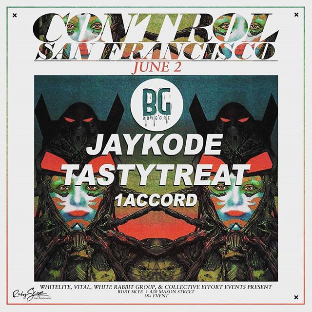 Thursday June 2nd join us at @rubyskyesf as we take the stage with @jaykode and @tastytreatmusic! You don't wanna miss this one!