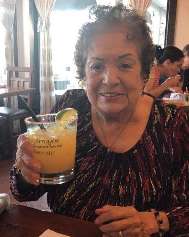 Today on this Fiesta Saturday we honor Mrs. Medel who left us to join her family in heaven this summer. It would have been her 93rd Birthday and for the past few years she has celebrated at Los Arroyos Montecito. We miss you today Nana but we know you are having a blast and hopefully sipping on a #margarita!!! Salud Nana!!!! Love, your Familia at Los Arroyos