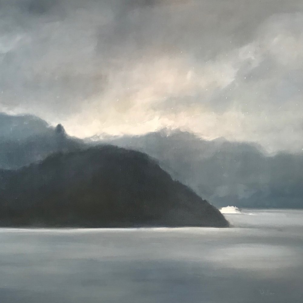 Salish Sea - Passing Storm 48 x 60 Sold