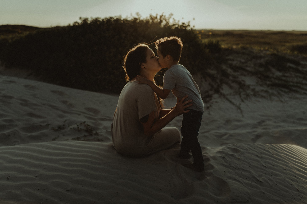 Kerlyn Van Gelder Photography - Intimate Motherhood Session on Padre Island Beach - Corpus Christi Photographer