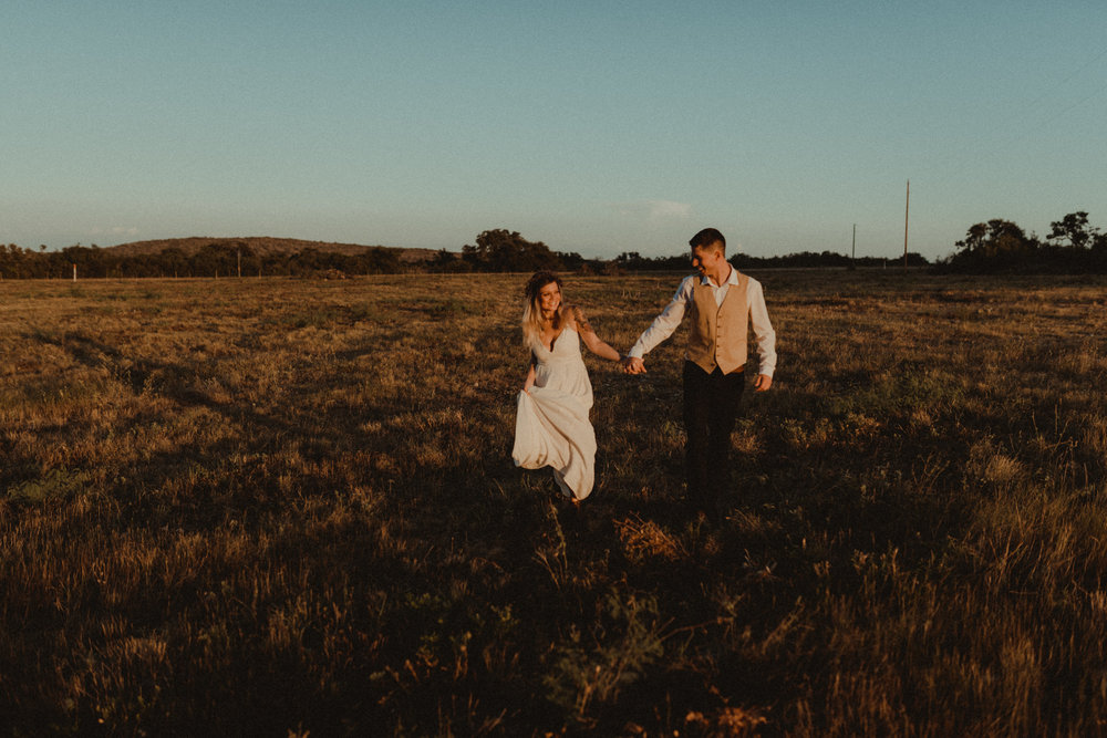 Intimate Outdoor Texas Wedding Sunset Storytelling Bride and Groom Portraits at Garner State Park San Antonio Wedding Photographer Kerlyn Van Gelder Photography Corpus Christi Wedding Photographer