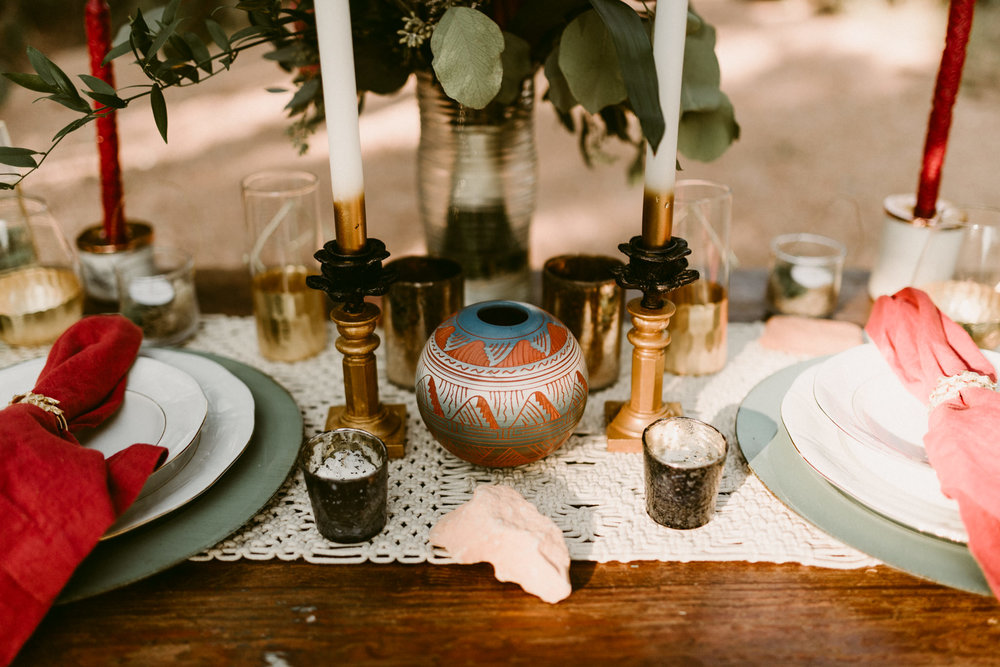 Bohemian-Floral-Greenery-Macrame-Desert-Elopement-Enchanted-Rock-Natural-Park-Kerlyn-Van-Gelder-Photography-Austin-Wedding-Photographer