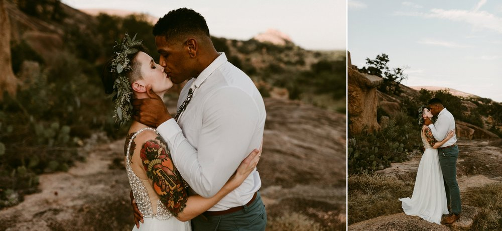 Bohemian-Floral-Greenery-Macrame-Southwestern-Adventurous-Desert-Elopement-Enchanted-Rock-Natural-Park-Kerlyn-Van-Gelder-Photography-Austin-Wedding-Photographer