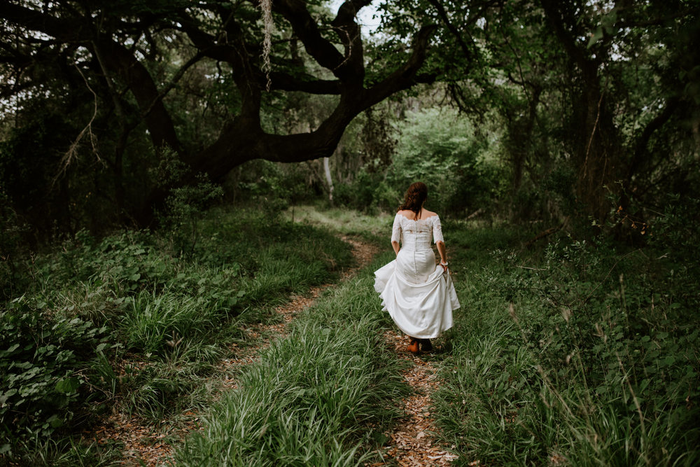 intimate-emotive-forest-greenery-bridal-session-lace-button-wedding-dress-three-rivers-texas-photographer-kerlyn-van-gelder-photography